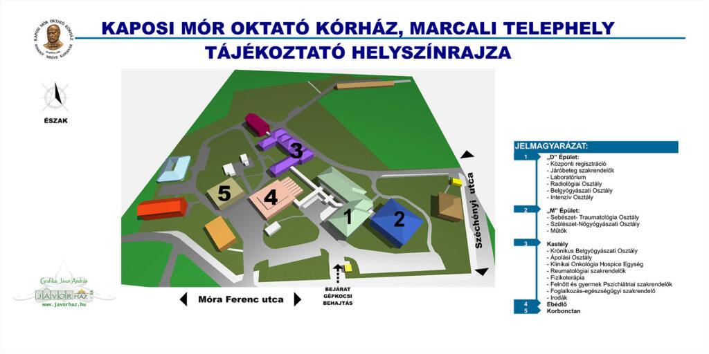 Marcali telephely térkép