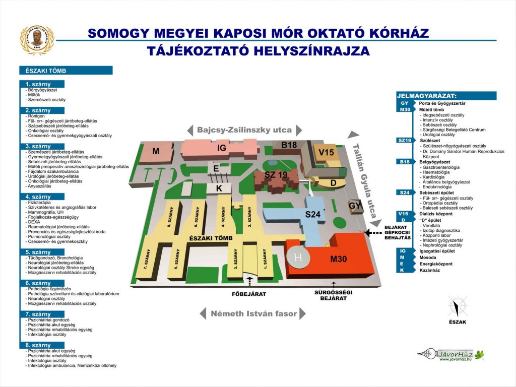 SMKMOK Tájékoztató helyszínrajz